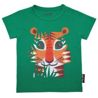 T-shirt coton bio vert Tigre