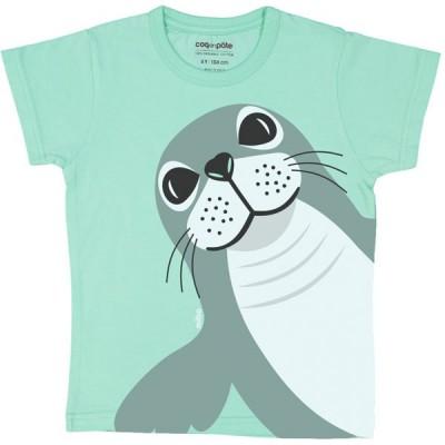 T-shirt coton bio vert Phoque
