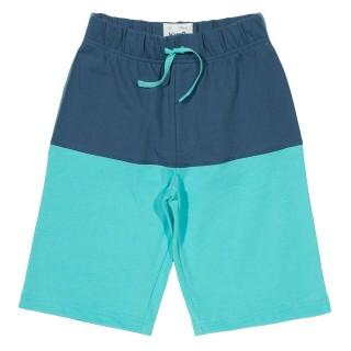 Short garçon coton bio bleu turquoise