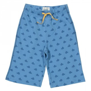 Short garçon coton bio bleu sous-marins