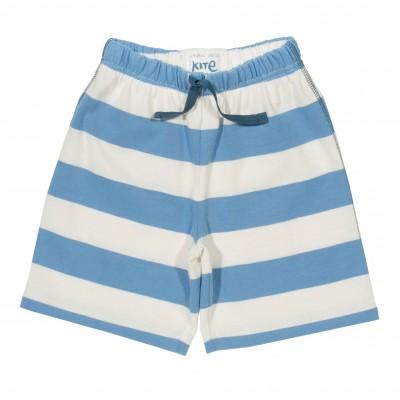 Short bébé coton bio rayures bleues