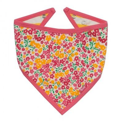 Bavoir bandana fleurs