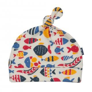 Bonnet bébé coton bio Poissons