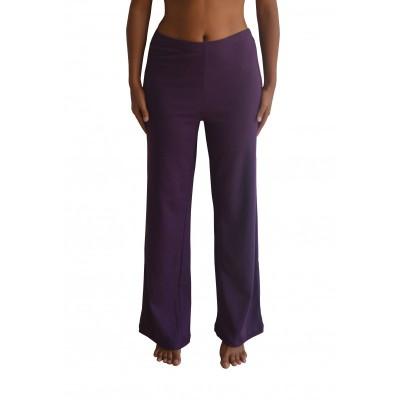 Pantalon coton bio violet