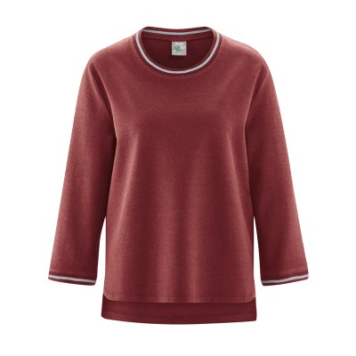 Pull bio col rond femme