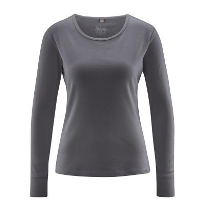 Textile écologique tee-shirt anthracite manches longues