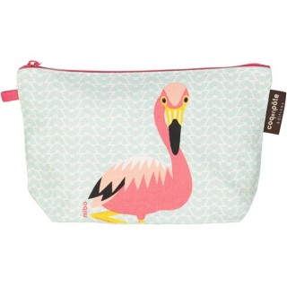 Trousse coton bio Flamand rose