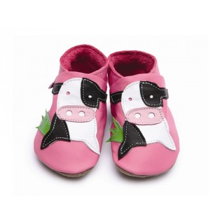 CHAUSSONS STARCHILD CUIR SOUPLE Cow pink