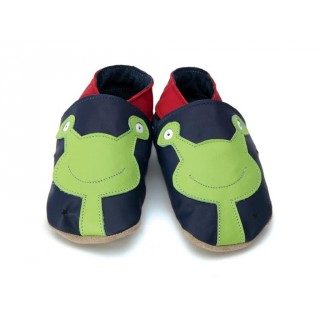 CHAUSSONS STARCHILD CUIR SOUPLE Allien in navy