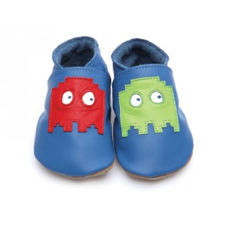 CHAUSSONS STARCHILD CUIR SOUPLE Pixel in blue