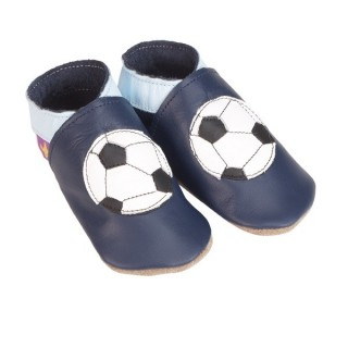 CHAUSSONS STARCHILD CUIR SOUPLE Foot ball, navy