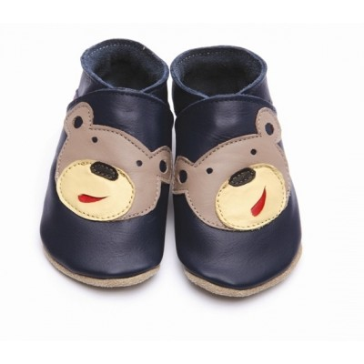 CHAUSSONS STARCHILD CUIR SOUPLE Bear navy