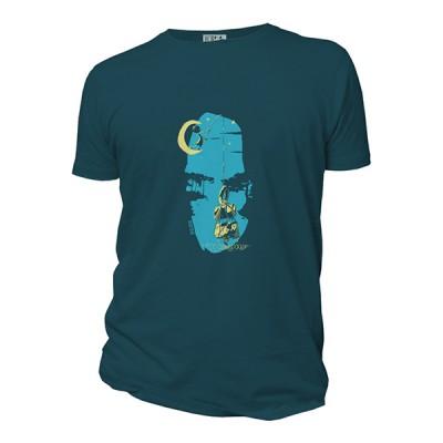 Tee-shirt bio bleu Belle prise...de tête