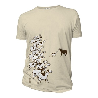 Tee-shirt bio blanc cassé les vaches