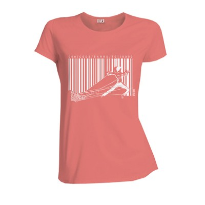T-shirt coton bio rose code barre toi Escalivre
