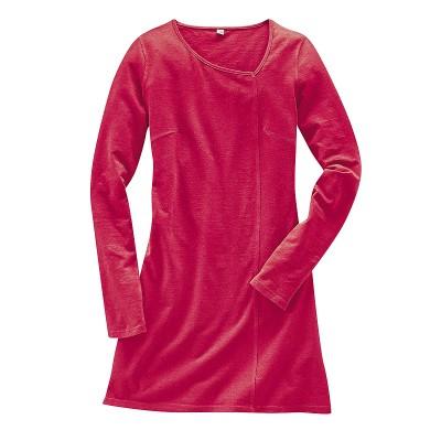 Robe à manches longues coton bio et chanvre Diana chili