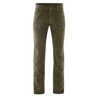 Pantalon homme chanvre coton biologique 5 poches moutarde kaki wolf
