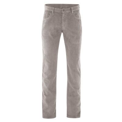 Pantalon bio 5 poches pour homme marron clair mud