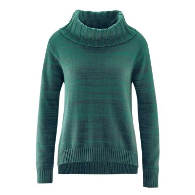 Pullover col roulé coton bio chanvre spruc Bianca