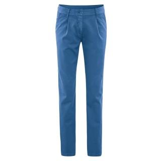 Pantalon slim toile coton bio et chanvre Alice bleu mer
