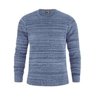 Pull homme chanvre coton bio bleu