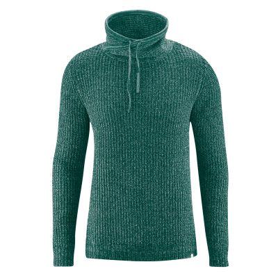 Pullover bio coton bio et chanvre vert foncé spruc