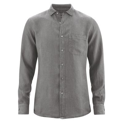 Chemise 100% chanvre taupe