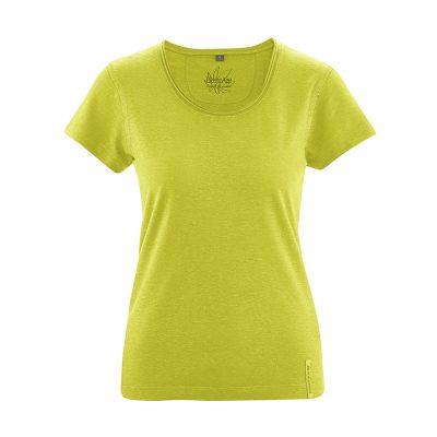 T-shirt breezy en coton bio et chanvre femme vert pomme