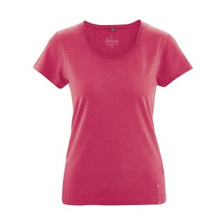 T-shirt breezy en coton bio et chanvre femme chili rouge