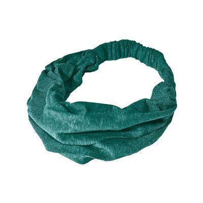 Bandeau cheveux chanvre et coton bio turquoise