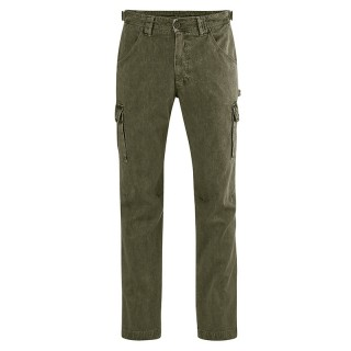 Pantalon homme cargo chanvre coton bio homme vert foncé wolf