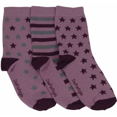 Lot de 3 chaussettes Chaussettes pour bébé Étoiles rose