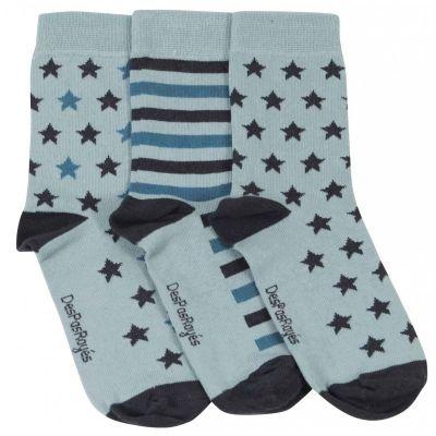 Lot 3 chaussettes bébé étoiles vert menthe
