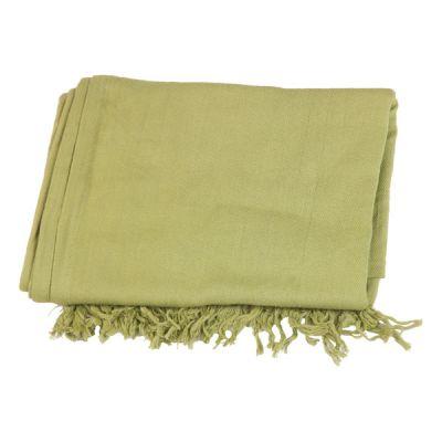 Cheche écharpe coton bio unis vert anis