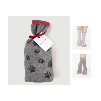 Pack 2 paires de chaussettes Pas de chat chaussettes bambou
