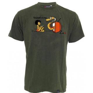 Tee shirt chanvre et coton bio imprimé
