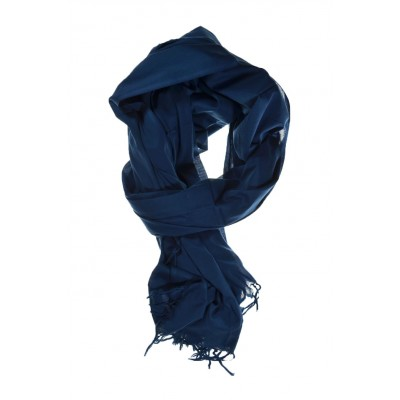 Cheche foulard bleu unie