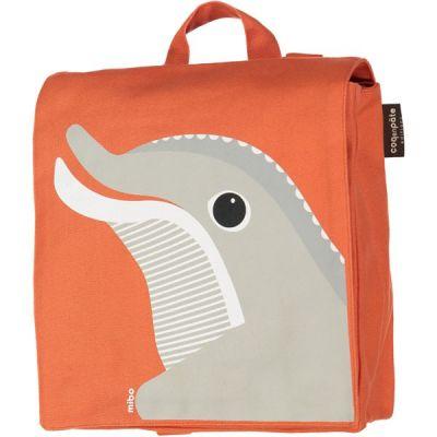 Sac à dos en coton bio maternelle dauphin