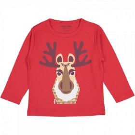 Tee-shirt enfant bio rouge Caribou