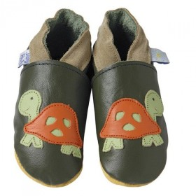 Chaussons tortues cuir souple Daisy Roots