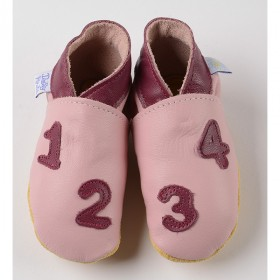 Chaussons 1-2-3-4 rose Daisy Roots
