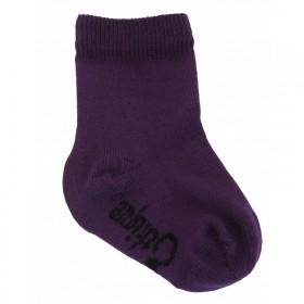 Chaussettes bio enfant violet