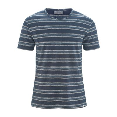 T-shirt bio à rayures bleu gris winter sky