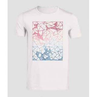 T-shirt coton bio homme avec Dégradé de couleurs