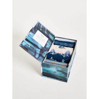 Coffrets cadeaux bio 4 paires de chaussettes homme en bambou thème mer