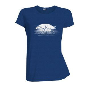 Tee-shirt bleu roi coton bio Ailleurs