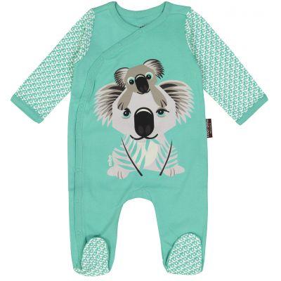 Pyjama recto-verso Coq en pâte vert d'eau koala