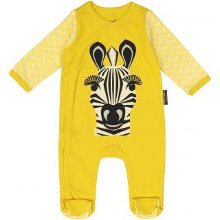 Pyjama en coton bio jaune zèbre