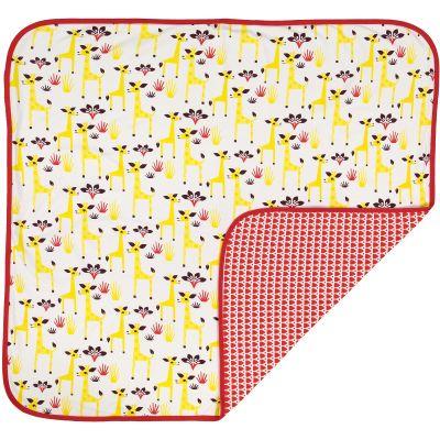 Couverture coton bio avec motifs girafes