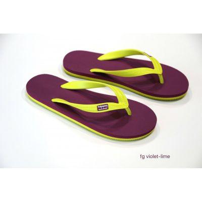 Tongs bio femme violet pois coconut